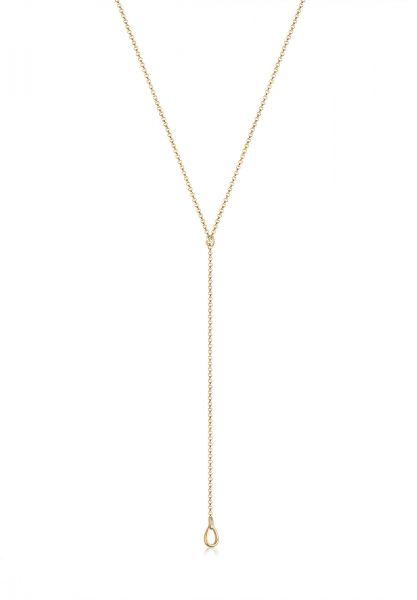 Y-Halskette Tropfen | 925 Sterling Silber vergoldet