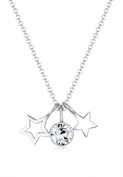 Elli Halskette Sterne Astro Kristalle 925 Silber