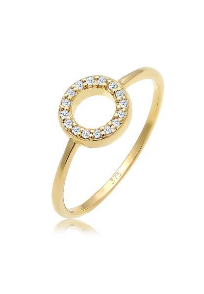 Verlobungsring   Diamant ( Weiß, 0,08 ct )   375 Gelbgold