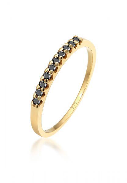 Ring   Diamant ( Schwarz, 0,15 ct )   375 Gelbgold