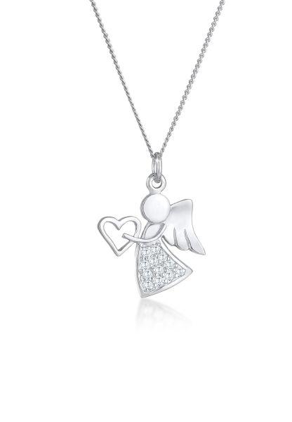 Nenalina Halskette Engel Herz Zirkonia Talisman Symbol 925 Silber