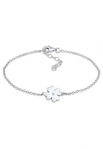 DIAMORE Armband Kleeblatt Talisman Diamant (0.015 ct.) 925 Silber