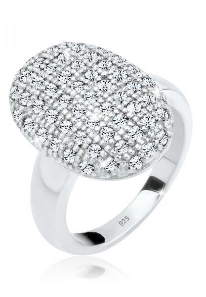 Elli PREMIUM Ring Cocktailring Kristalle 925 Silber