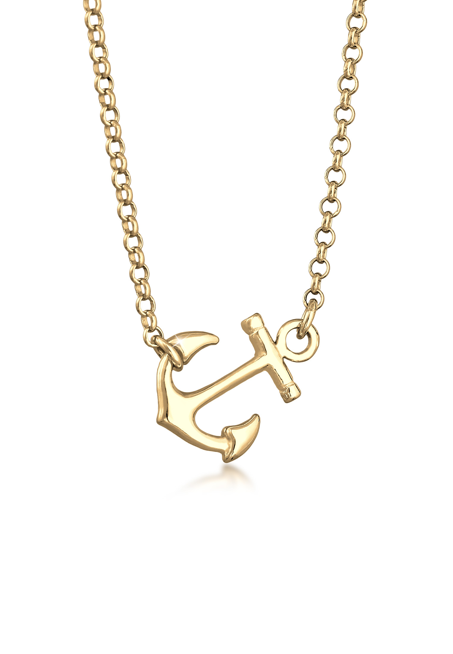 Halskette Anker   925 Sterling Silber vergoldet