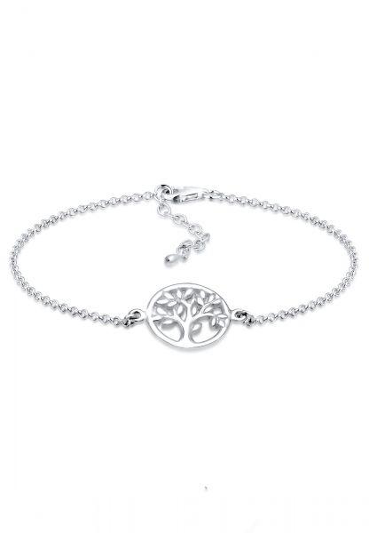 Elli Armband Lebensbaum Kreis Blatt Floral 925 Sterling Silber