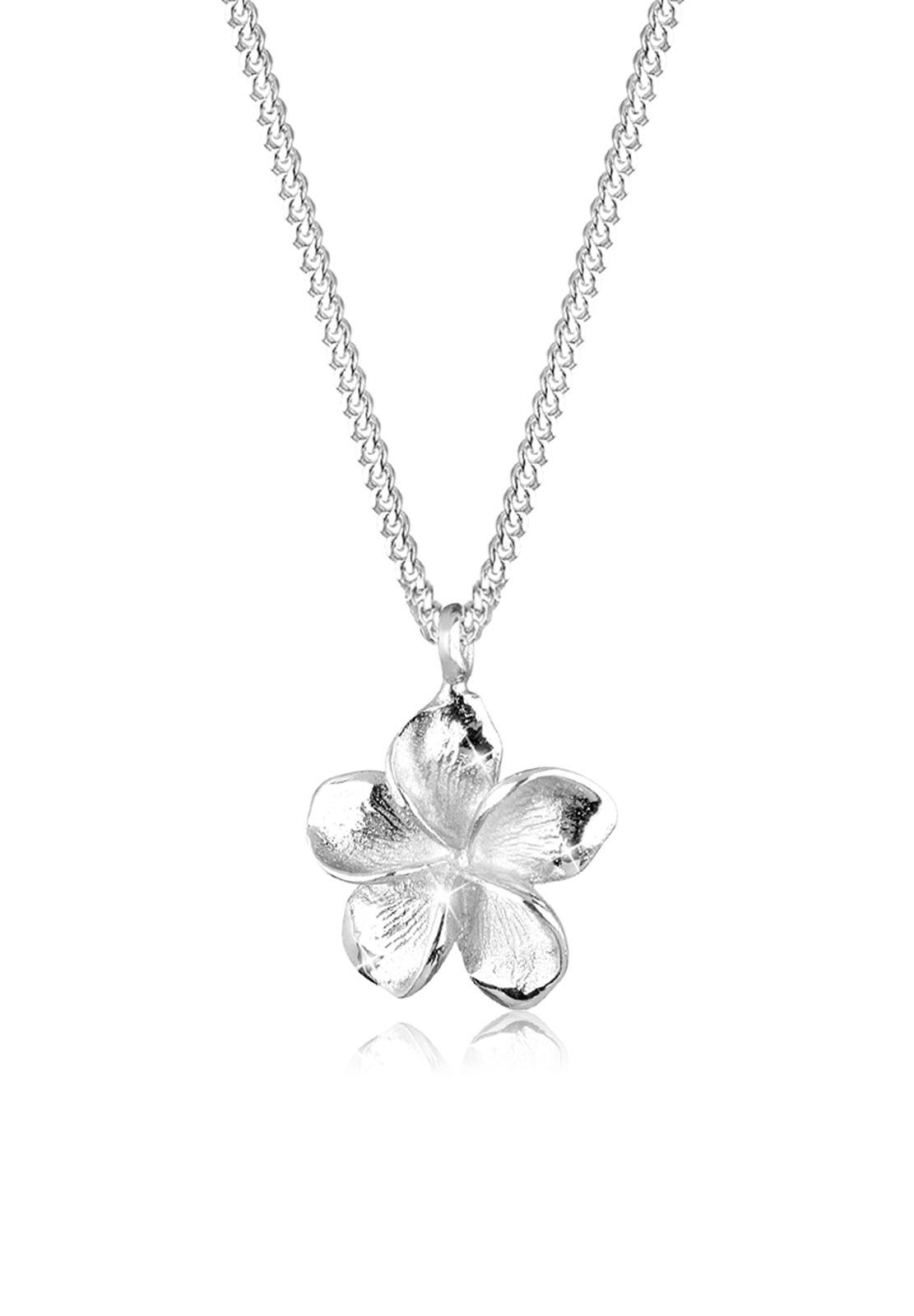 Halskette Frangipani Blüte   925er Sterling Silber