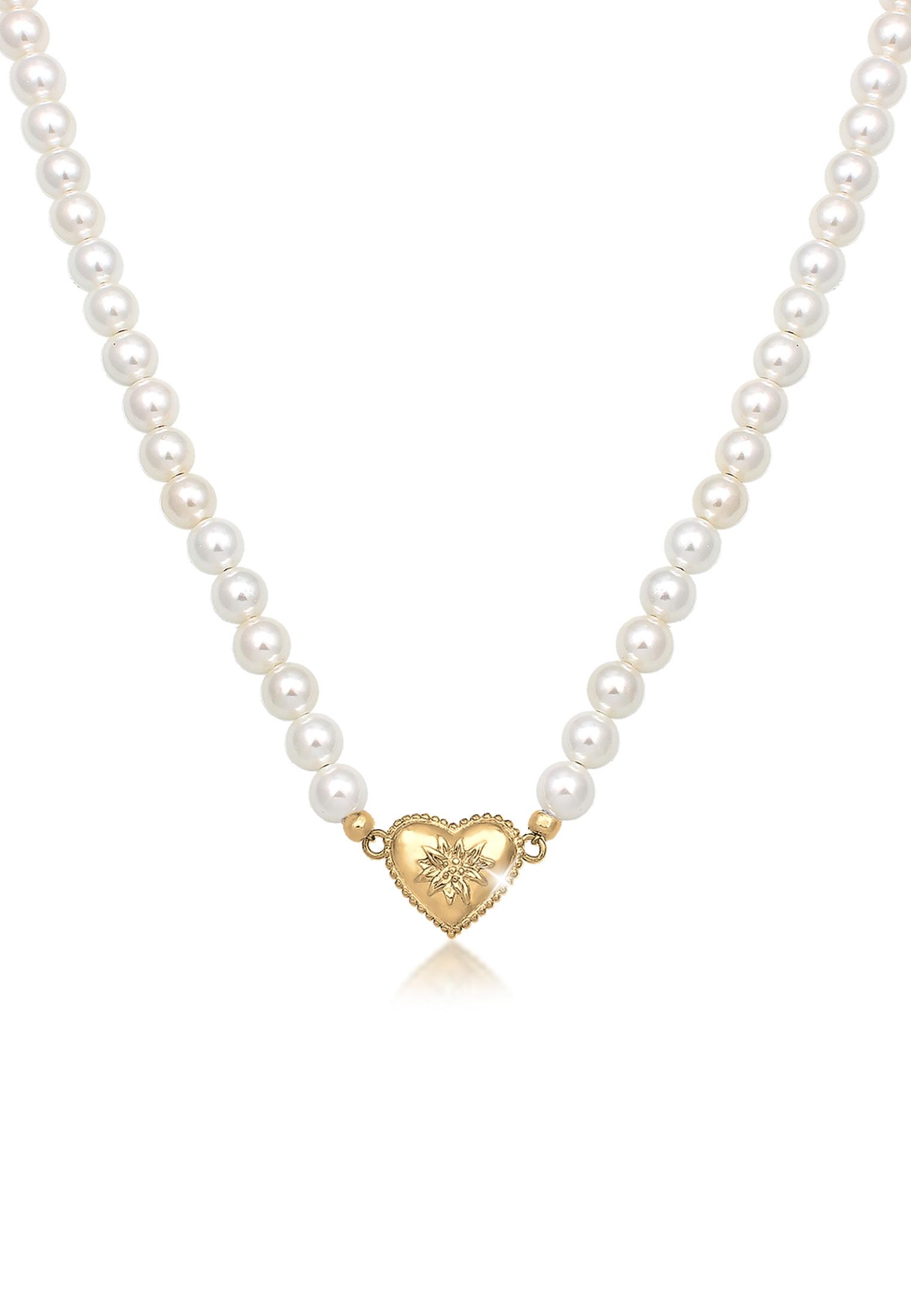 Halskette Edelweiss   Perle   925er Sterling Silber