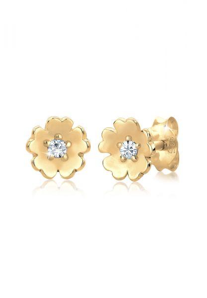 Elli Ohrringe Blume Garten Kristalle 925 Silber