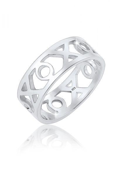Elli Ring XOXOWording Geo Trend Blogger 925 Sterling Silber