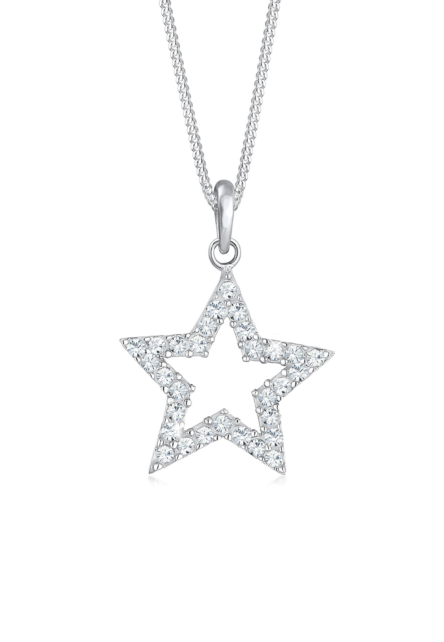 Halskette Astro | Kristall ( Weiß ) | 925er Sterling Silber