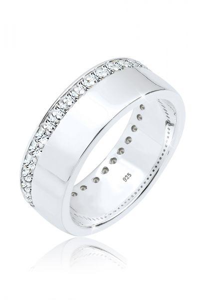Elli Ring Funkelnd Kristalle 925 Sterling Silber