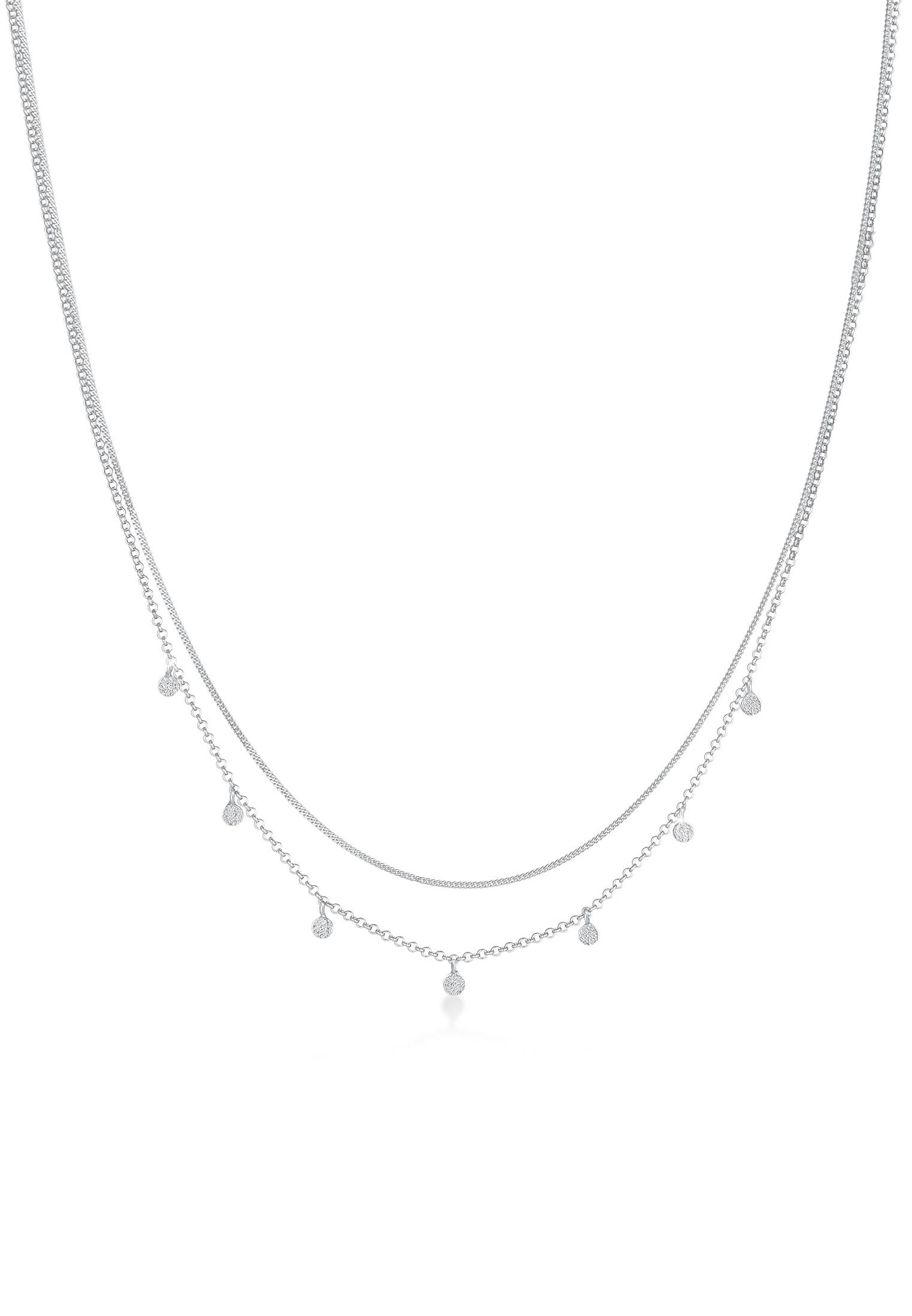 Layer-Halskette Geo | 925er Sterling Silber