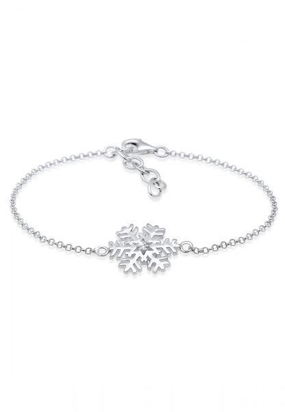 Elli Armband Schneeflocke Xmas Kristalle 925 Silber