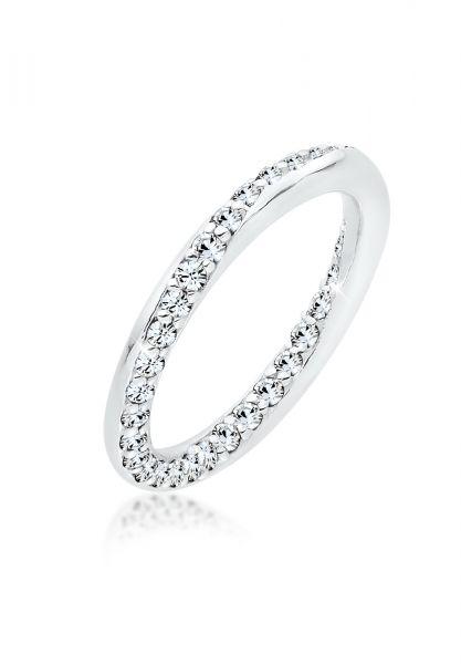 Elli Ring Bandring Kristalle Silber