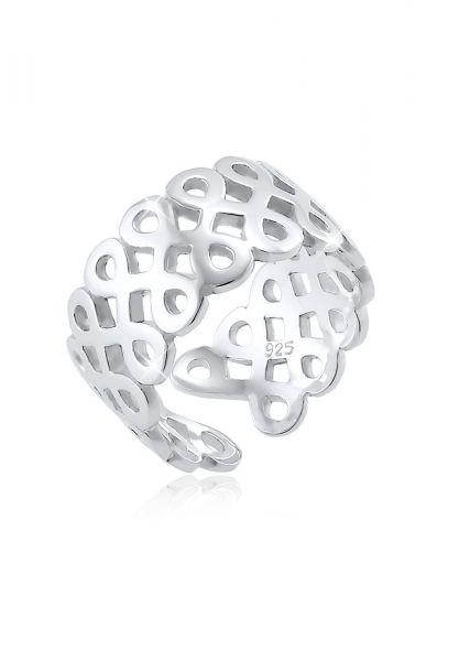 Elli Ring Infinity Unendlichkeit Trend Blogger Silber
