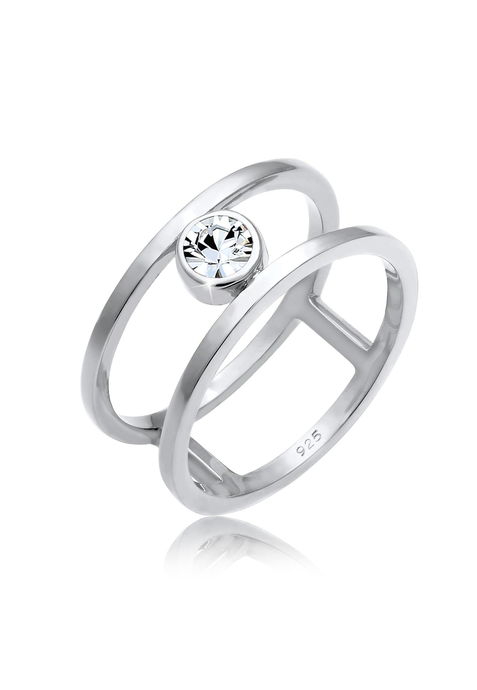 Ring | Kristall ( Weiß ) | 925er Sterling Silber