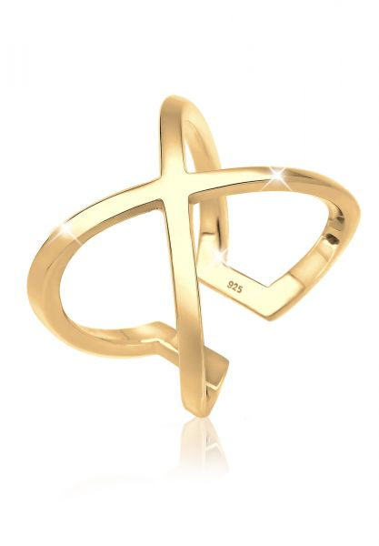 Elli Ring Kreuz Blogger Geo Trend 925 Sterling Silber