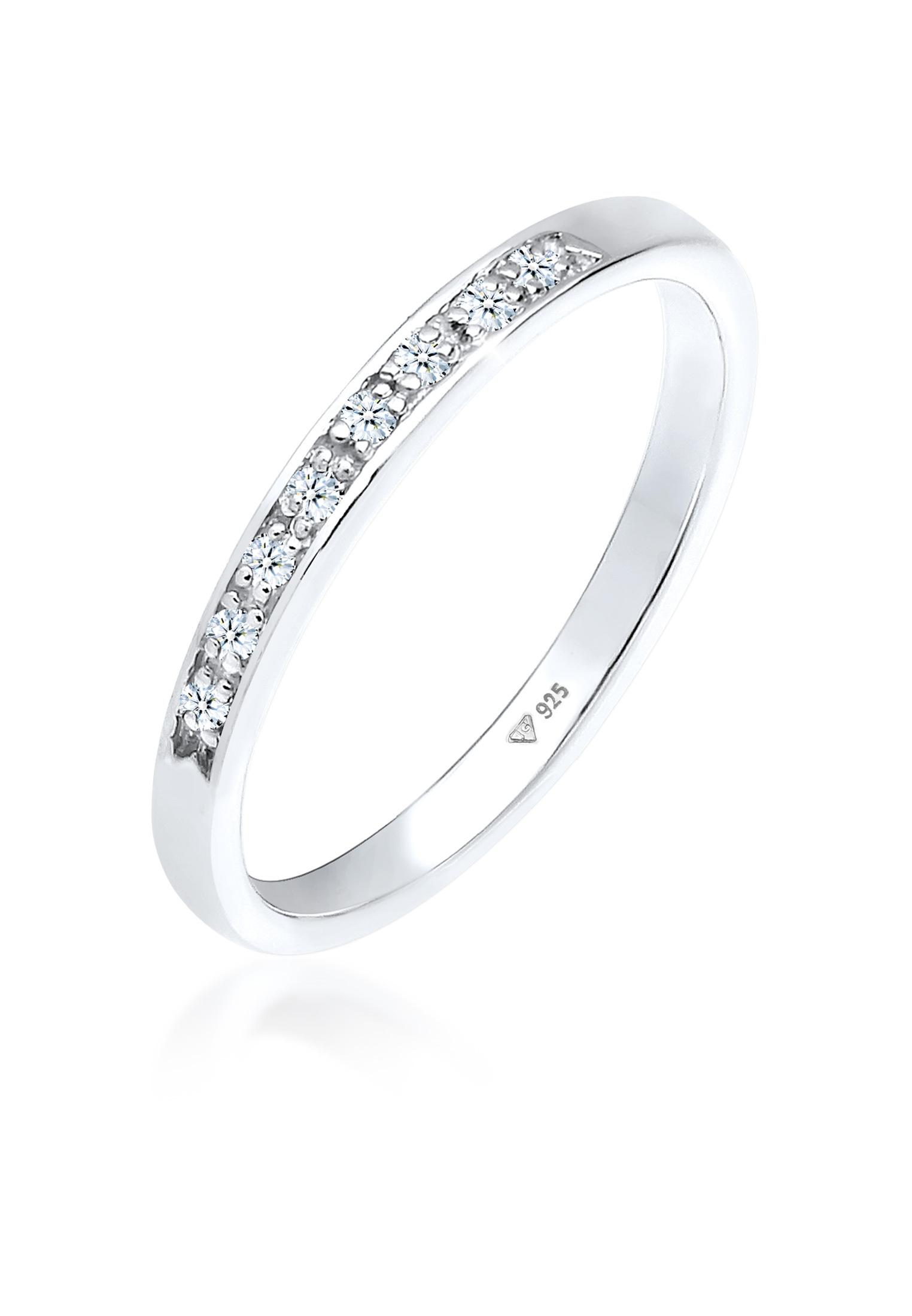 Verlobungsring | Diamant ( Weiß, 0,04 ct ) | 925er Sterling Silber