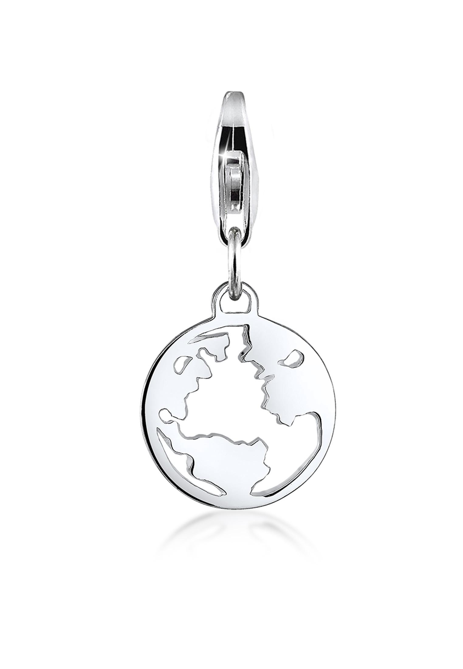 Charm Weltkugel | 925er Sterling Silber