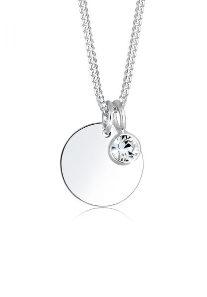 Elli Halskette Geburtsstein April Kristalle 925 Silber