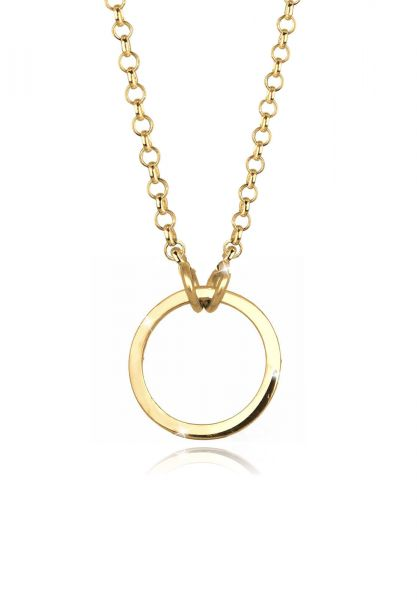 Elli Halskette Charmträger Ring 925 Sterling Silber
