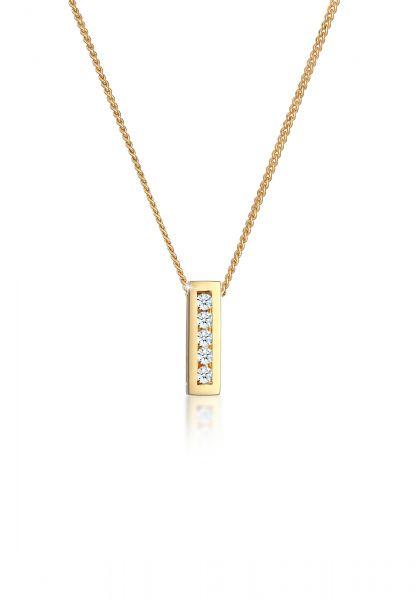 Halskette | Diamant ( Weiß, 0,075 ct ) | 585 Gelbgold