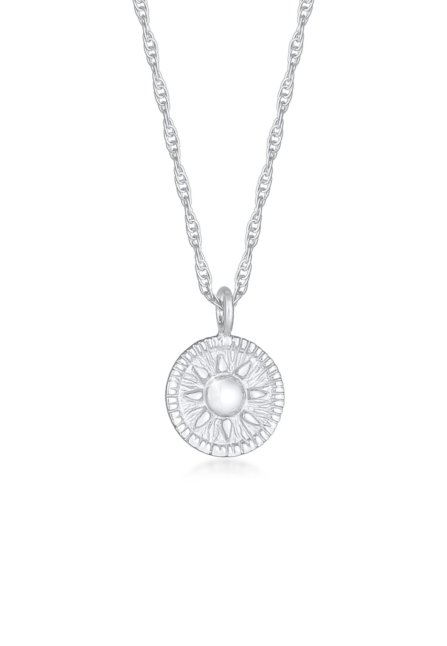 Halskette Münze Sonne | 925er Sterling Silber