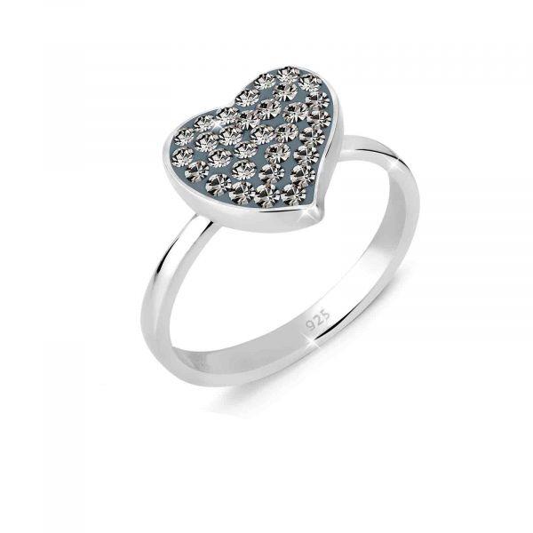 Elli Ring Herz Kristalle 925er Silber