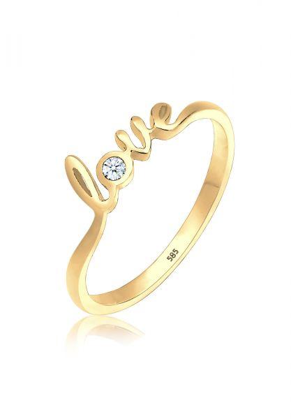 DIAMORE Ring Love-Schriftzug Diamant 0.03 ct. 585 Gold