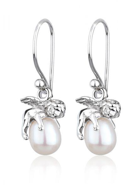 Elli Ohrringe Engel Schutzengel Süßwasserzuchtperle Silber