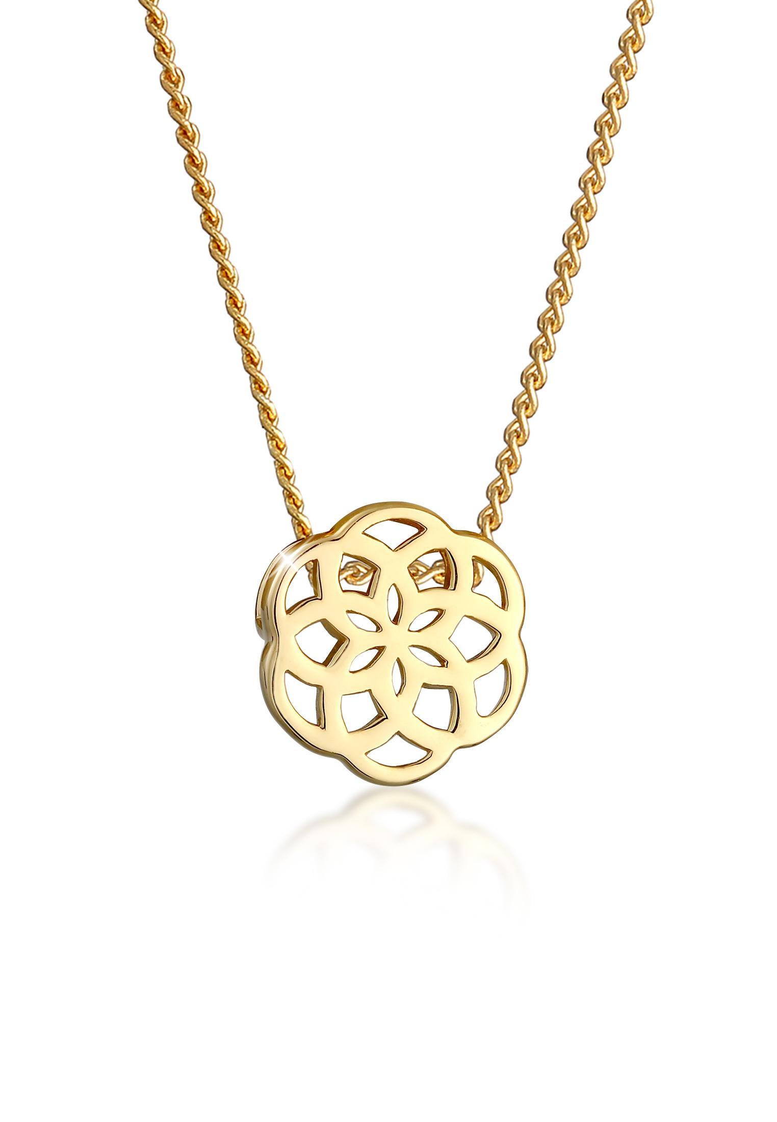 Halskette Blume | 585 Gelbgold