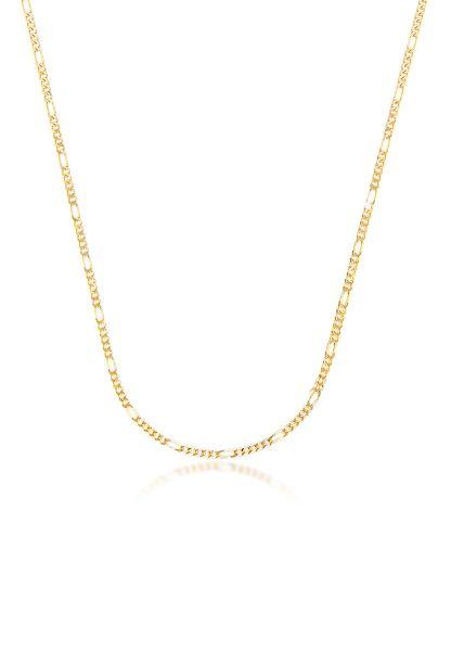 Elli PREMIUM Halskette Figaro Gliederkette Gelbgold 333 Made in Germany