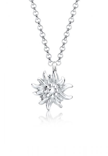 Elli Halskette Edelweiss Symbol Anhänger Wiesn Tracht 925 Silber