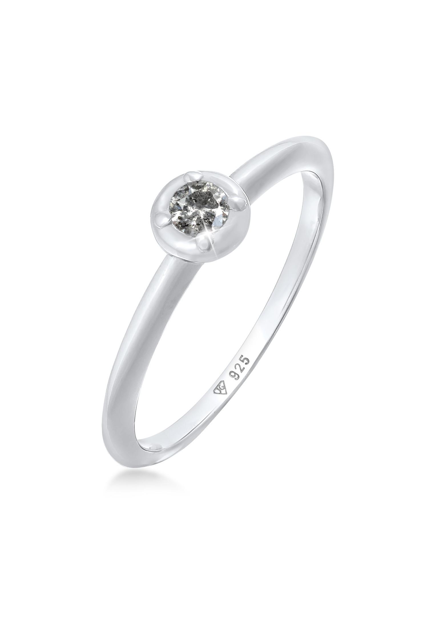 Ring | Salt & Pepper Diamant (0.05 ct.) | 925er Sterling Silber