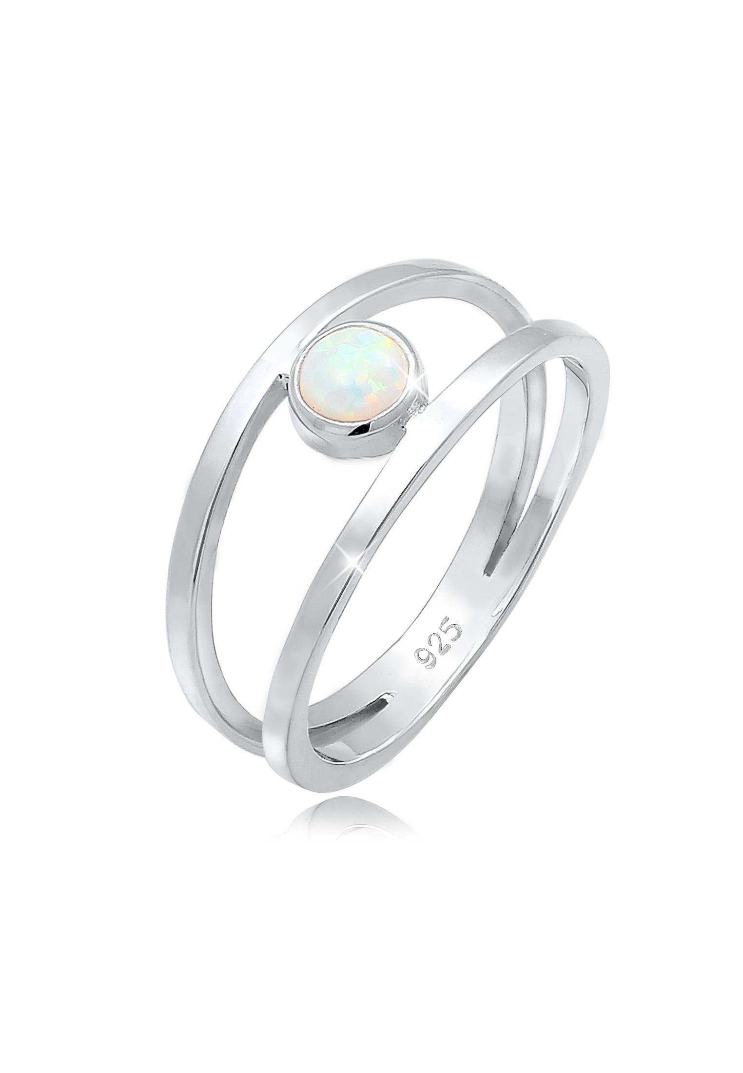 Ring   Opal ( Weiß )   925er Sterling Silber