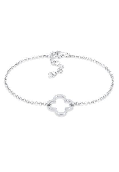 Elli Armband Kleeblatt Cut-Out Design Glück Talisman 925 Silber