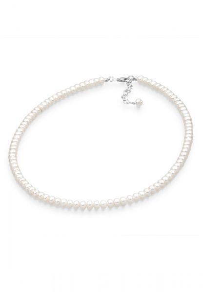 Glieder-Halskette | Süßwasserperle | 925er Sterling Silber