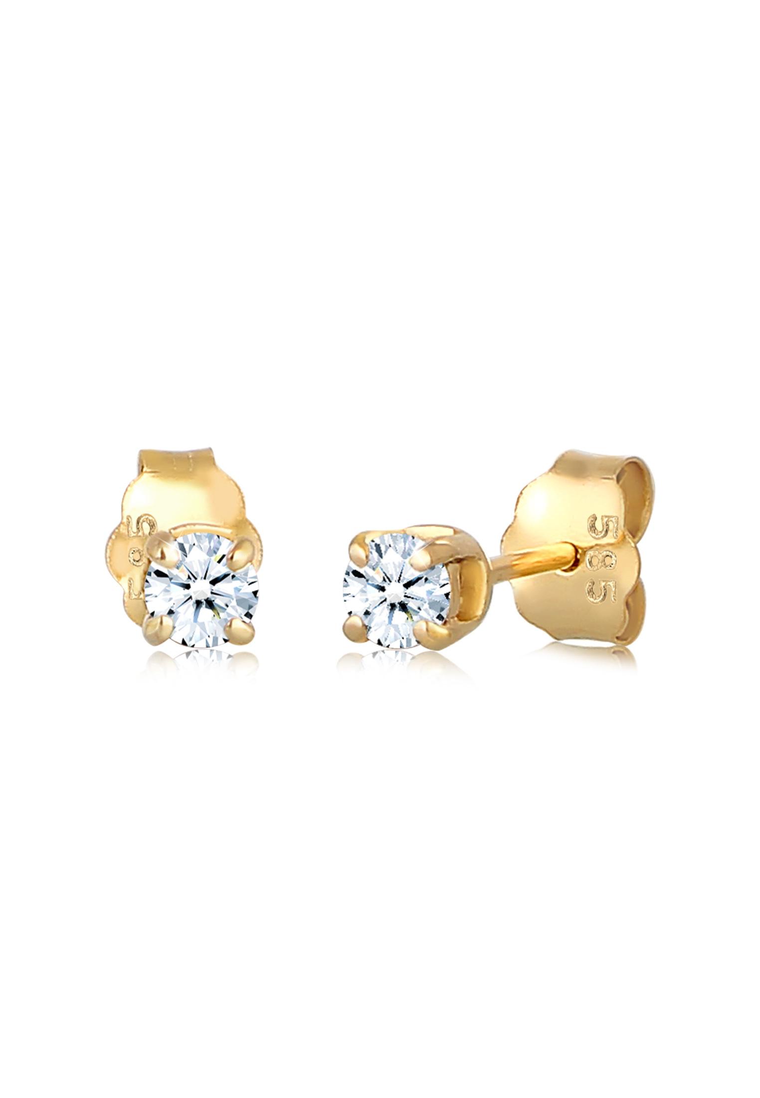 Ohrstecker   Diamant ( Weiß, 0,22 ct )   585 Gelbgold